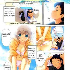 Traindo com o amigo da minha namorada - Hentai
