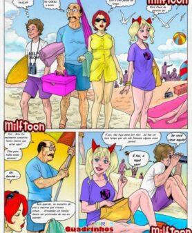 Incesto de família na praia de nudismo