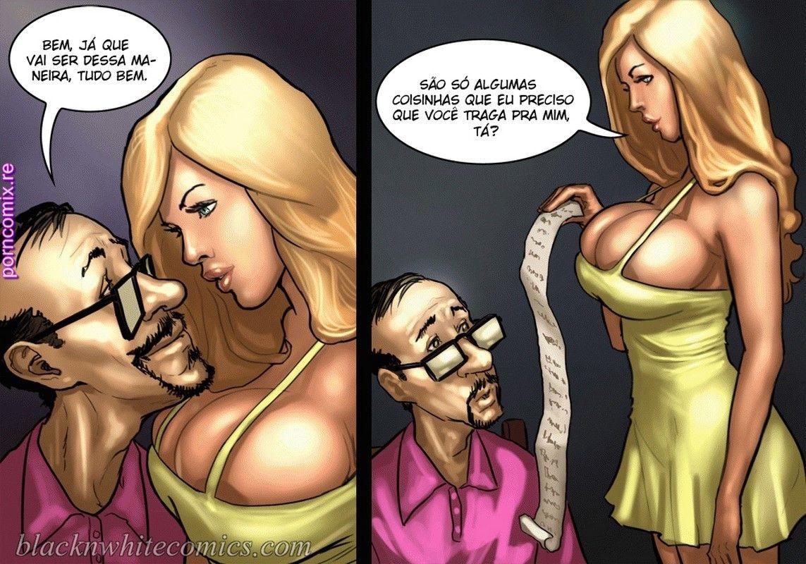 Quadrinho de sexo de Traição no Strip pôquer pornô