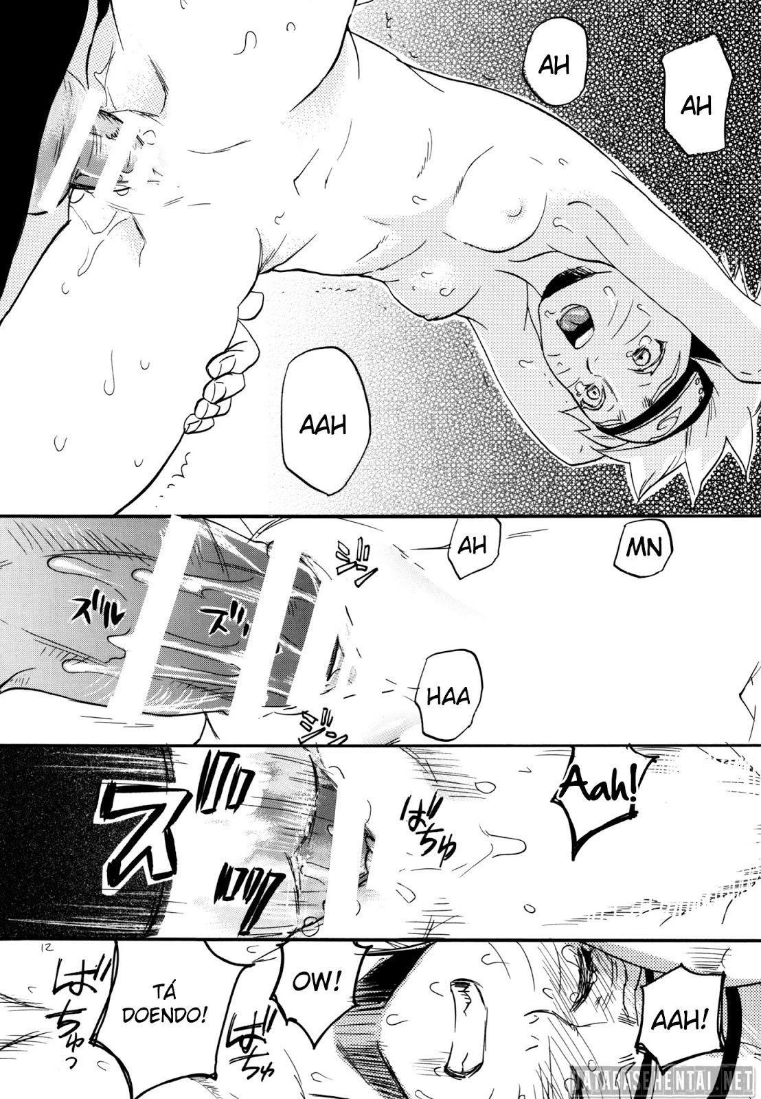 Sasuke e naruto mostrando que são bons amantes quando estão juntinhos