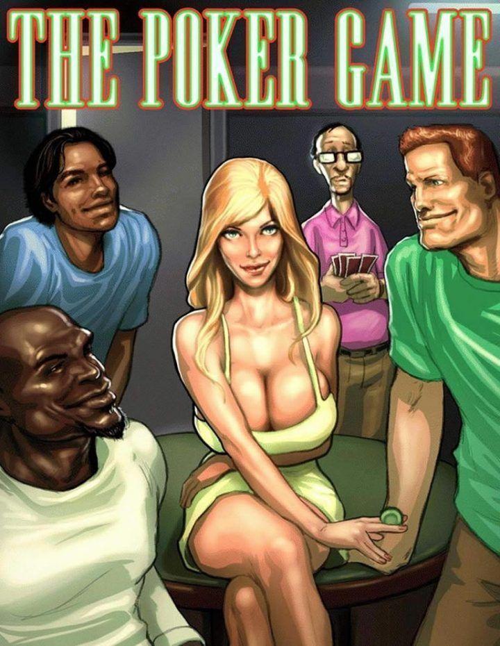 Jogando poker com a gostosa  interracial