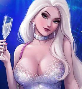 Elsa futanari curtindo uma balada