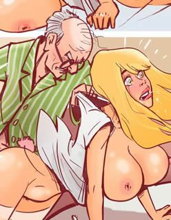 A enfermeira safada e o velho tarado